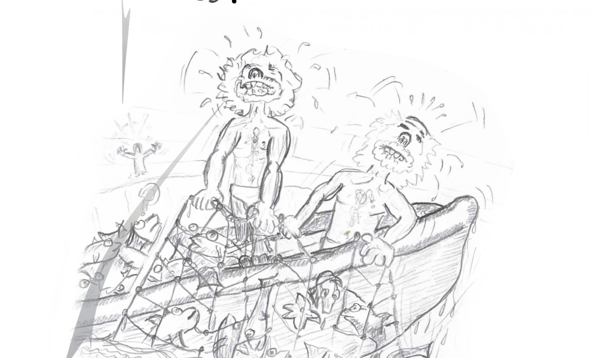 Petrus trifft Jesus - Cartoons rund um den Fels in der Brandung